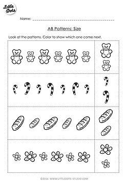 Free math worksheet on AB patterns