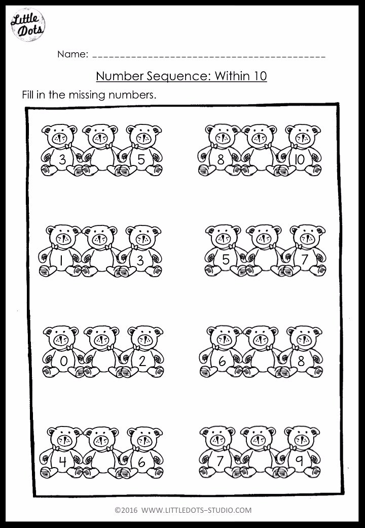 Kindergarten Math Number Sequence Worksheets And Activities - Download Free Printable Number Sequencing Worksheets For Kindergarten Images