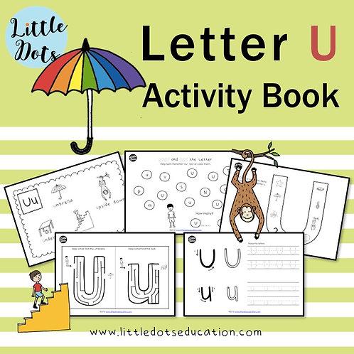 Letter U Activity Book