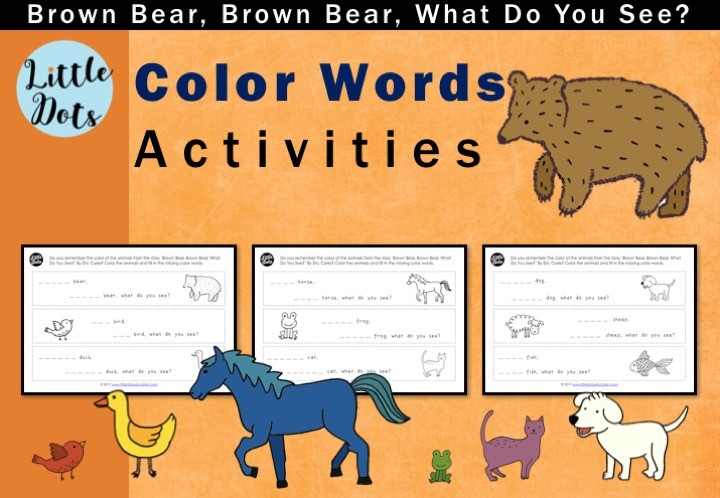 Brown Bear, Brown Bear, What Do You see? Color words printable