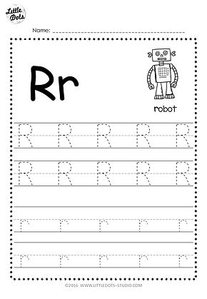 free letter r tracing worksheets. Black Bedroom Furniture Sets. Home Design Ideas
