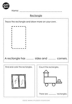 Free kindergarten rectangle shape worksheet. Learn the basic properties of rectangle shape and find rectangle shapes in pictures.