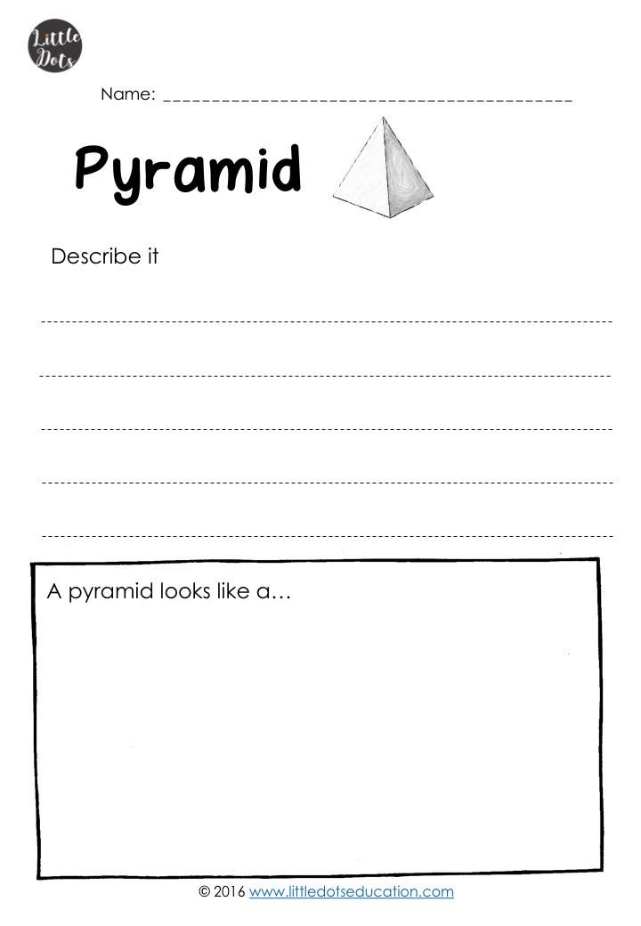 Free pyramid worksheet for kindergarten