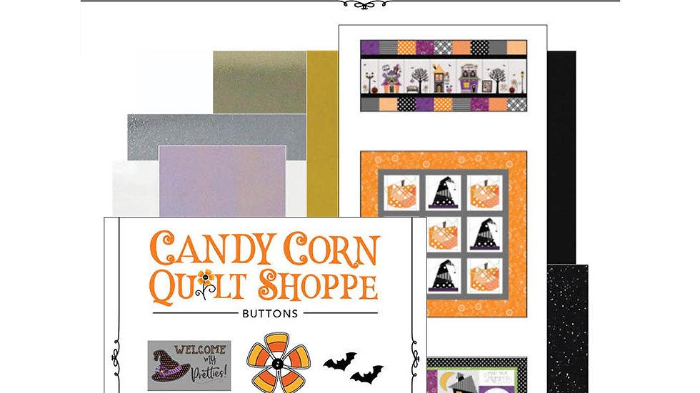 Hometown Halloween Candy Corn Quilt Shoppe Embellishment Kit Pre Order