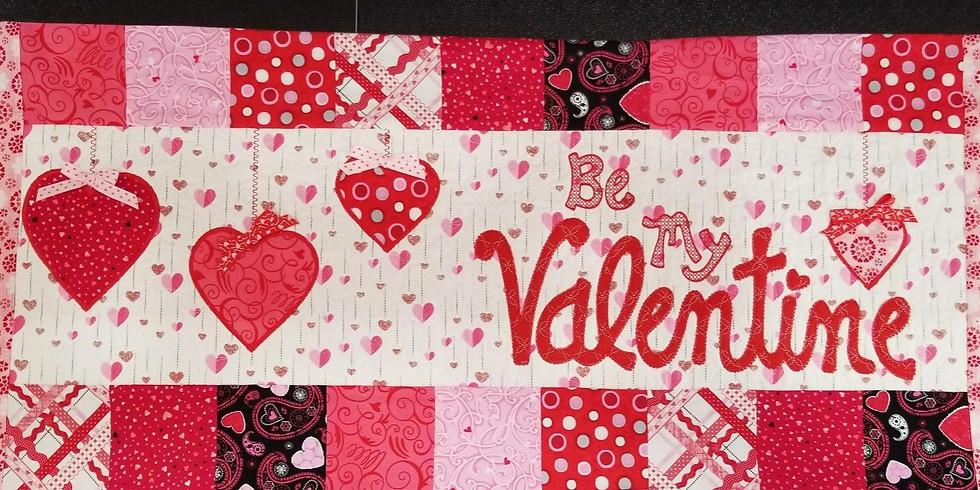 Kimberbell Valentine bench pillow