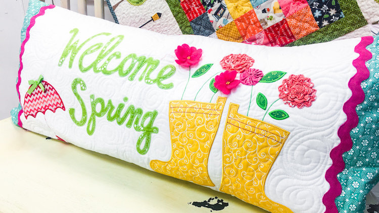 Welcome Spring Bench Pillow Fabric Kit