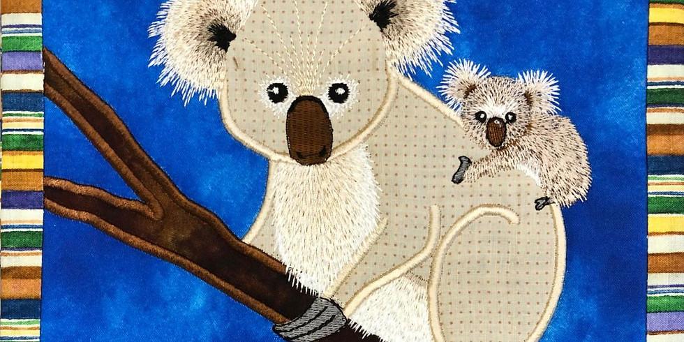April 2020 mug rug club (designs by Desiree's Designs Studios)