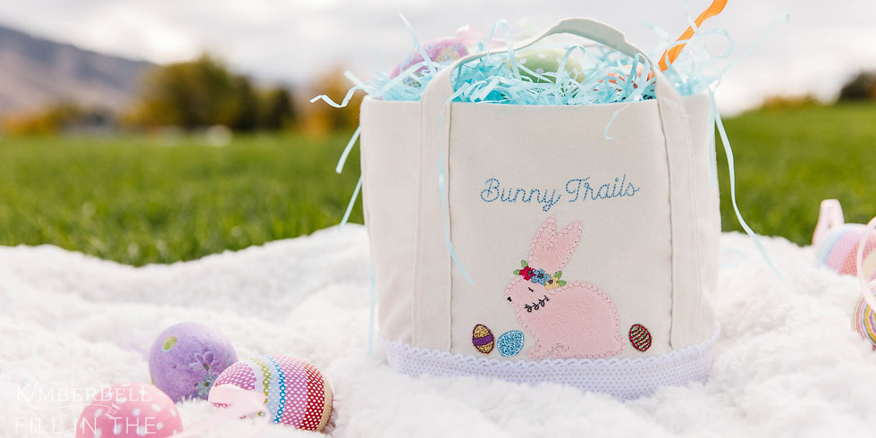 """Kimberbell Klub March 2021 """"Bunny Trails and Cotton Tails"""" Bunny Busket"""