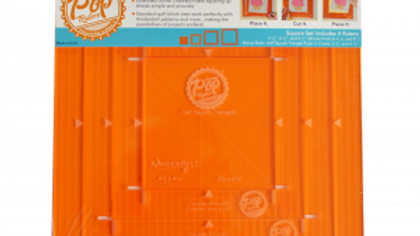 ORANGE POP RULERS, SQUARE SET