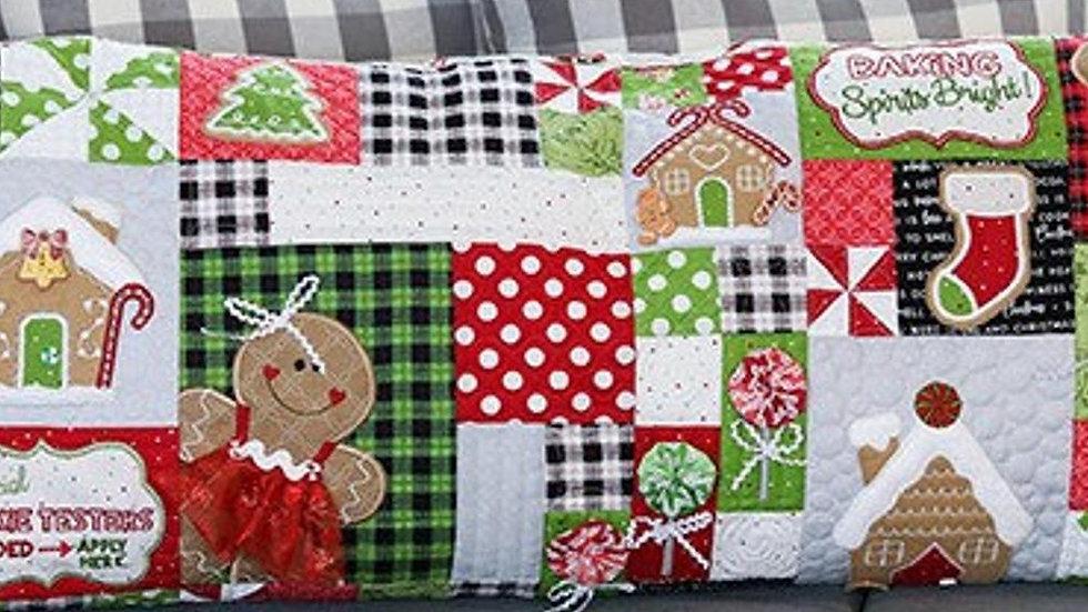 Kimberbell's Ginger Kitchen bench pillow fabric kit