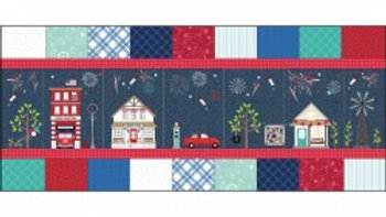 Main Street Celebration Bench Pillow fabric kit