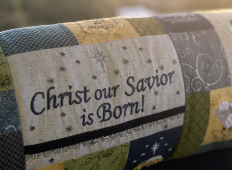 Happy Hoop Decor Volume 2 Nativity Bench Pillow