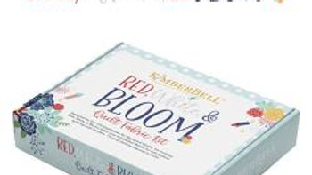 Red White & Bloom quilt fabric kit PRE ORDER