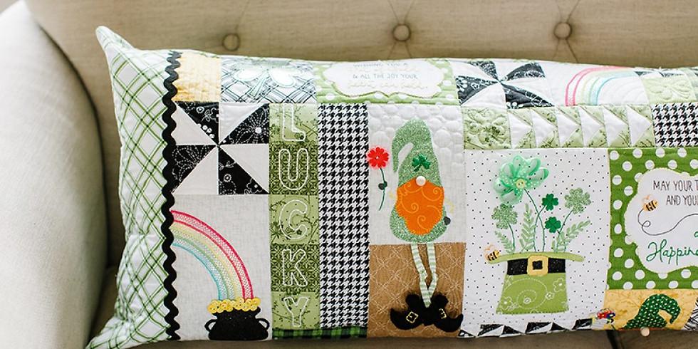 Kimberbell Luck O the Gnome bench pillow