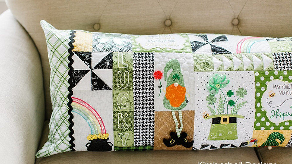 Luck O The Gnome bench pillow fabric kit