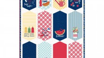 Red White & Bloom Banner Panel
