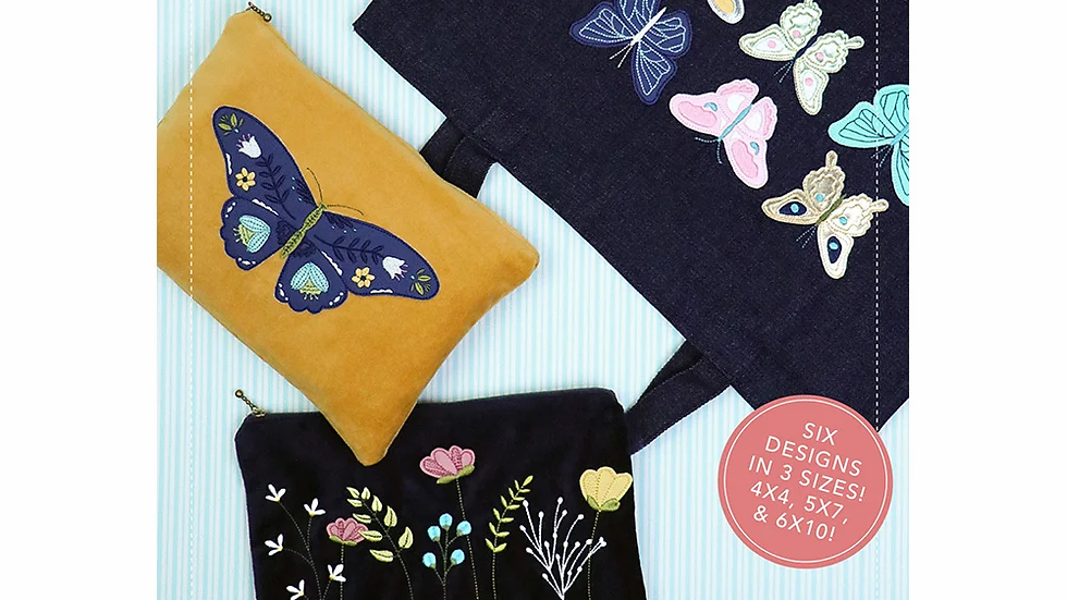 Blossoms & Butterflies: Kimberblank Appliques