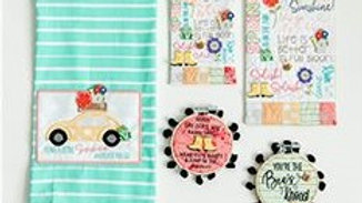 Buttons Always in Season Spring Fabric Kit