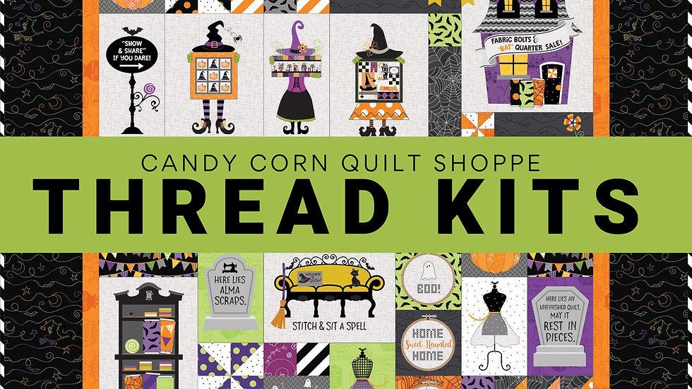 Candy Corn Quilt Shoppe Glide Thread Kit Pre Order