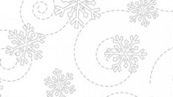 KimberBell Whites Snowflakes