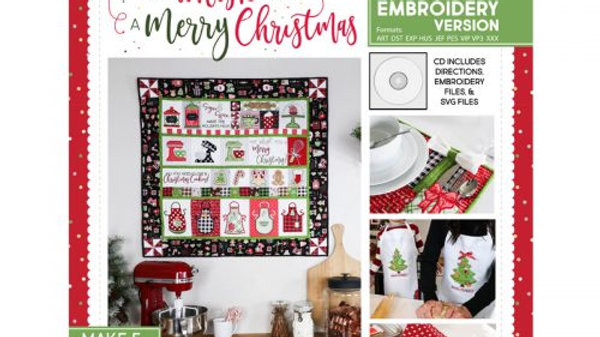 We Whisk You A Merry Christmas Machine Embroidery Version
