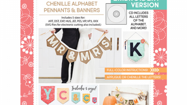 That's Sew Chenille Alphabet Pennant