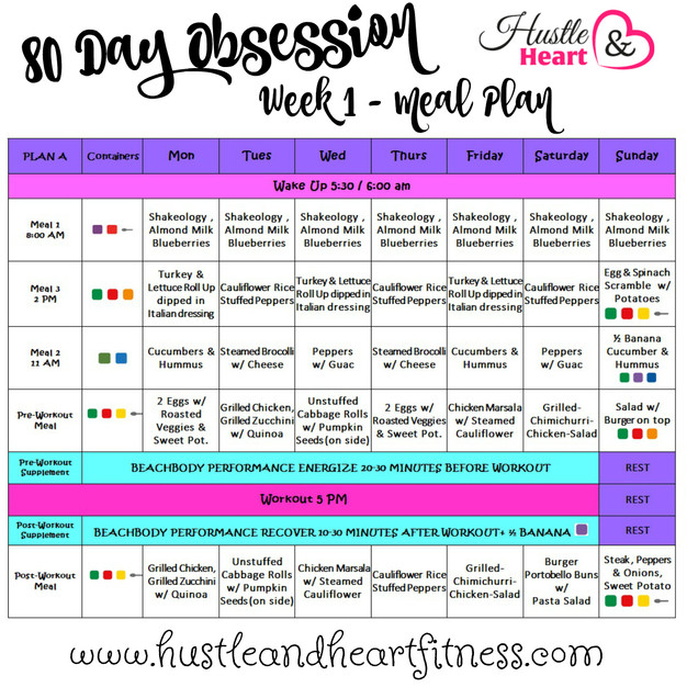 80 day obsession meal plan with recipes tips to keep you on track i am super excited to be starting 80 day obsession on monday it has been months since i sat down with a plan or used my portion fix container slacker fandeluxe Image collections