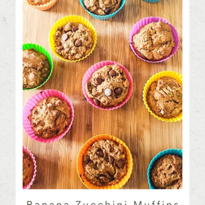 Banana Zucchini Muffins - Mom & Kid Approved