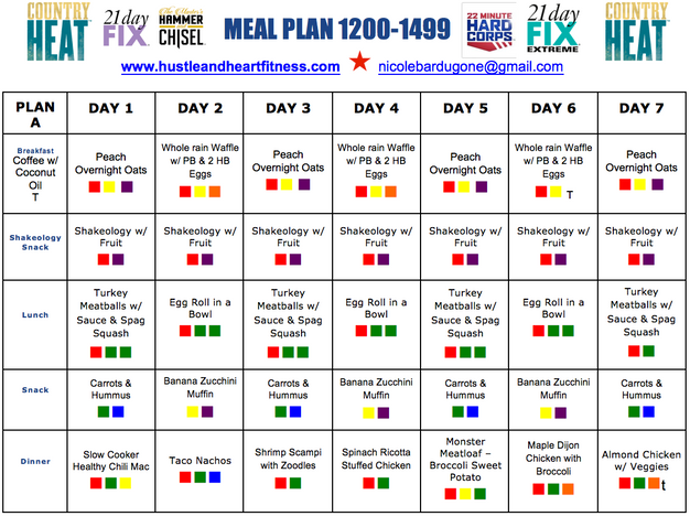 Weekly Meal Plan With Recipes 21 Day