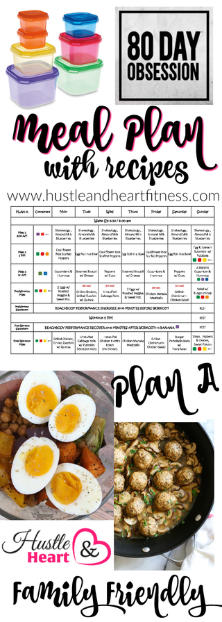 80 Day Obsession Meal Plan w/ Recipes - Phase One, Week Four