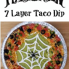 7 Layer Taco Dip Halloween Edition