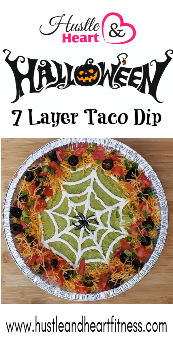 Halloween 7 layer taco dip