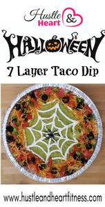 Halloween 7 layer taco dip