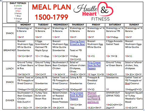 Meal Plan Amp Recipes 21 Day Fix Hammer Amp Chisel 4 Week Collection Fix Friendly Recipes