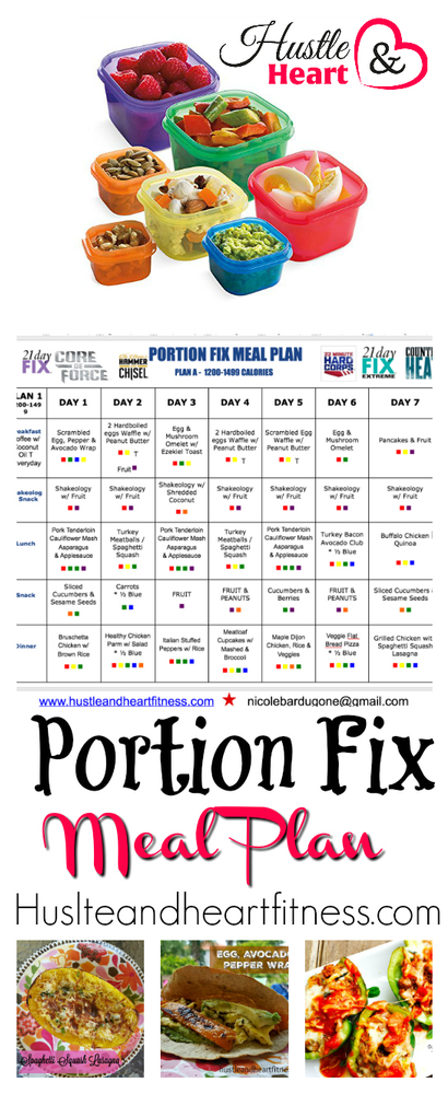 Portion Fix Meal Plan Works With Any Beachbody Program Recipes Too