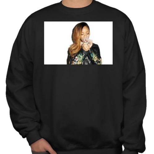 "Rihanna (""Up 'n Smoke"") (Long-Sleeve Crew Neck Sweater)"