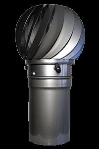 Windgetriebener Ventilator (Edelstahl V2A)