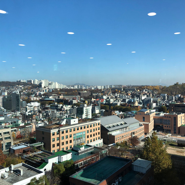 One fine autumn day - Overlooking the Jung lab and Daehak-ro from SNU hospital