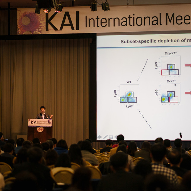 Prof. Jung's lecture was very well received at the KAI International Meeting 2018 (annual immunology conference).