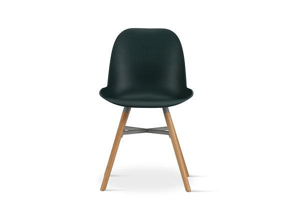 כיסא מעוצב רגלי עץ דגם- 11342