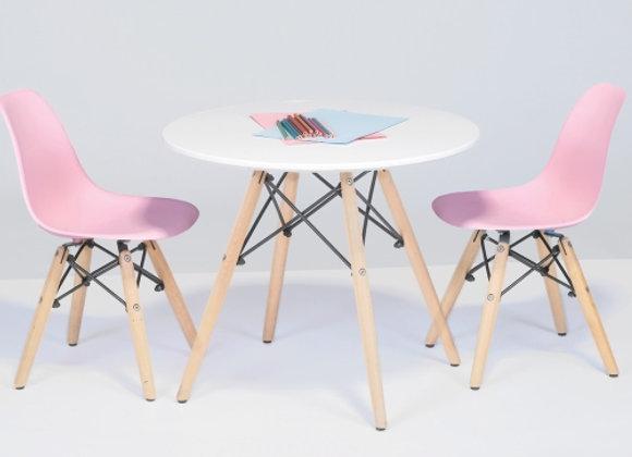 שולחן +זוג כיסאות לילדים
