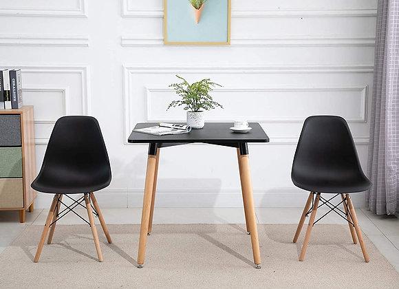 """סט שולחן מעוצב 80*80ס""""מ+ 4 כסאות דגם לירן"""
