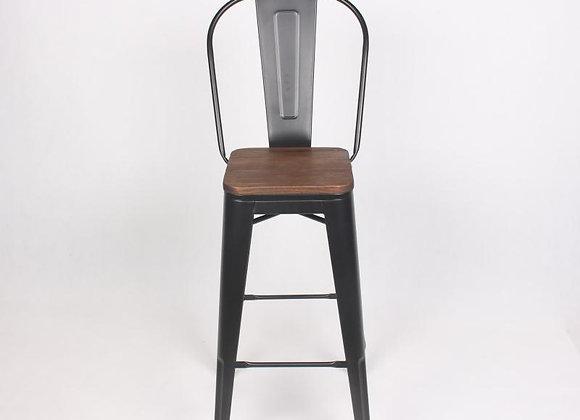 כיסא בר משענת גב גבוהה