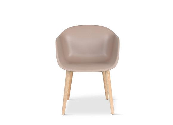 כיסא מעוצב גוף עץ דגם- 11326