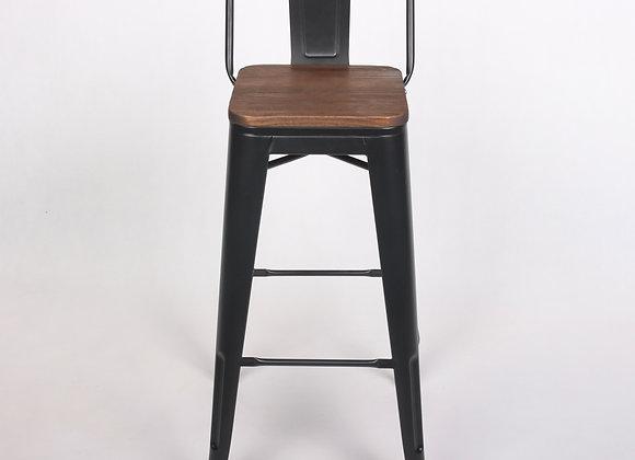 כיסא בר משענת גב נמוכה