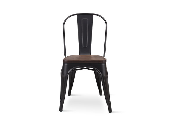 כיסא ברזל איכותי בשילוב עץ