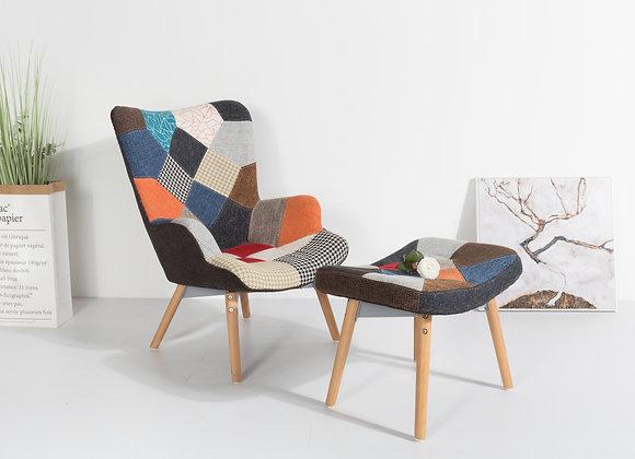 כורסא מרופדת+הדום דגם-1753