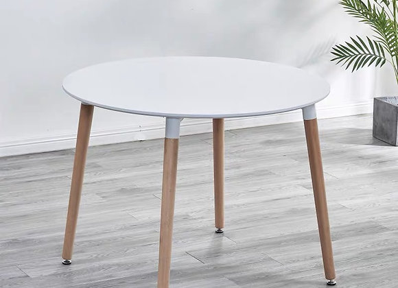 """שולחן עגול 4 רגליים קוטר 80ס""""מ"""