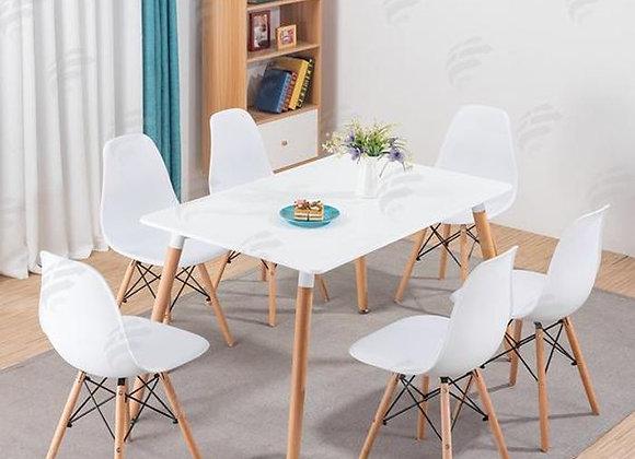 סט שולחן דגם כלנית+ 6 כסאות דגם לירן