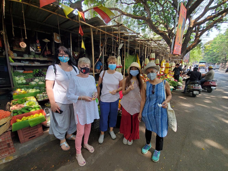 Walking around Malleshwaram market